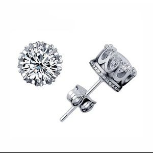 Jewelry - Fashion Crown Classic Stud Earrings
